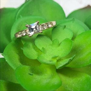 Pretty Size 5 Crystal Promise Ring for Girlfriend